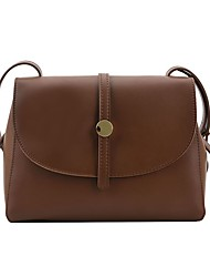 cheap -Women's Bags PU Leather Tote Crossbody Bag Buttons Solid Color Vintage Daily Outdoor Retro Leather Bag Handbags Black Brown Coffee