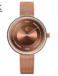 cheap -Shengke Women Watches Top Brand Luxury Stainless Steel Strap Wristwatch for Women Rose Clock Stylish Quartz Ladies Watch