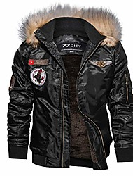 cheap -men's bomber jacket men, nrutup flight jacket winter warm windproof motorcycle jacket faux fur hooded biker jacket (black, xl)