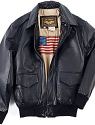 cheap -a-2 air force mens flight bomber black genuine leather jacket (black, small)