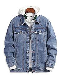 cheap -men's regular-fit buttow down denim jacket casual long sleeve denim trucker jacket(blue,medium)