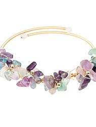 cheap -Women's Natural Stone Cuff Bracelet Bracelet Classic Mini Simple Luxury Classic Copper Bracelet Jewelry Green For Gift Daily Club / 14K Gold