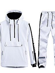 cheap -Men's Ski Jacket with Pants Thermal Warm Waterproof Windproof Breathable Hooded Winter Clothing Suit for Snowboarding Ski Mountain / Cotton / Women's