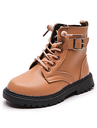 cheap -Boys' Girls' Boots Combat Boots Synthetics Casual / Daily Combat Boots Big Kids(7years +) Little Kids(4-7ys) Toddler(2-4ys) Sports & Outdoor Daily Button Khaki Black Fall Winter / Mid-Calf Boots / TR