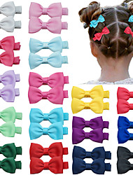 cheap -40 pcs/set Children's Jewelry Bow Hairpin Solid Color Threaded Belt Baby Bangs Clip Side Clip Headdress