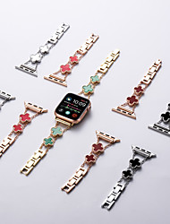 cheap -Smart Watch Band for Apple iWatch 1 pcs Jewelry Design Stainless Steel Replacement  Wrist Strap for Apple Watch Series 7 / SE / 6/5/4/3/2/1