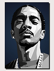 cheap -Wall Art Canvas Prints Painting Artwork Picture Nipsey Hussle Black Painting Home Decoration Decor
