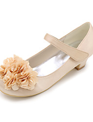 cheap -Girls' Heels Flower Girl Shoes Satin Big Kids(7years +) Little Kids(4-7ys) Toddler(2-4ys) Wedding Flower Magic Tape Blue Purple Red Spring Summer