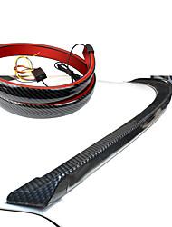 cheap -Car Signal Lamp High Mount Stop Brake Light 120cm Universal Carbon Fiber LED Rear Spoiler or Car Trunk Driving Brake Light Strip