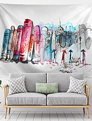 cheap -City Sketch Wall Tapestry Art Decor Blanket Curtain Hanging Home Bedroom Living Room Decoration Polyester