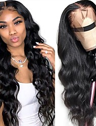 cheap -150% 180% 13x4 Lace Front Human Hair Wigs Body Wave Wig HD Transparent Lace Loose Deep Wig 30 Inches Lemoda Remy Brazilian Lace Frontal Wig