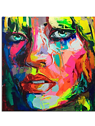 cheap -Oil Painting Handmade Hand Painted Wall Art Modern Francoise Nielly Knife Abstract Portrait Face Figure Picture Home Decoration Decor Rolled Canvas No Frame Unstretched