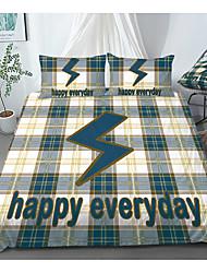 cheap -Print Home Bedding Duvet Cover Sets Soft Microfiber For Kids Teens Adults Bedroom Letter 1 Duvet Cover 1/2 Pillowcase Shams