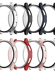 cheap -8 pack for galaxy watch 4 44mm case with built in tempered glass screen protector, slim guard thin bumper full coverage cover for samsung women men smart watch accessories