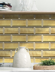 cheap -American Ceramic Tile Sticker Golden Small Ceramic Tile Self-adhesive Kitchen Wall Sticker Imitation 3d Tile Sticker