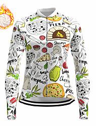 cheap -21Grams Women's Long Sleeve Cycling Jersey Winter Fleece Spandex White Bike Top Mountain Bike MTB Road Bike Cycling Fleece Lining Warm Moisture Wicking Sports Clothing Apparel / Stretchy / Athleisure
