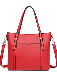 cheap -Women's Bags PU Leather Tote Crossbody Bag Top Handle Bag Zipper Plain Solid Color Vintage Daily Outdoor Retro Leather Bag Handbags Wine Blue Blushing Pink Black