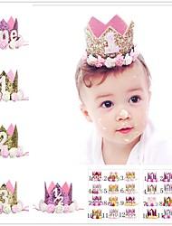 cheap -Children's Hair Accessories Girl Crown Headband Baby Birthday Party Photo Headdress Baby Hairband