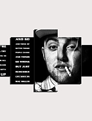 cheap -5 Panels Wall Art Canvas Prints Painting Artwork Picture Mac Miller Painting Home Decoration Decor Rolled Canvas No Frame Unframed Unstretched