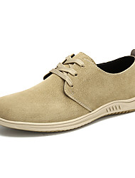 cheap -Men's Boat Shoes Casual Classic British Daily Outdoor Walking Shoes Leather Nappa Leather Almond Khaki Fall Winter