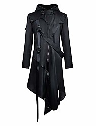 cheap -men's vintage steampunk gothic jacket victorian retro medium length coat punk jacket carnival cosplay costume hooded jacket tuxedo jacket uniform m