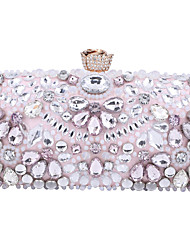 cheap -Women's Bags Polyester Evening Bag Crystals Chain Party / Evening Daily Retro Evening Bag Chain Bag Blushing Pink