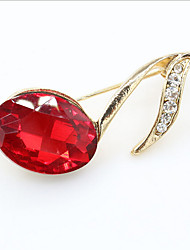 cheap -Women's Brooches Geometrical Creative Fashion Brooch Jewelry Red For Christmas Party Wedding Street Gift