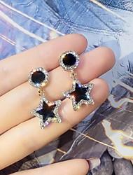 cheap -Women's Earrings Geometrical Star Korean Earrings Jewelry Black For Street Gift Daily Work Festival 1 Pair