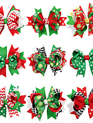 cheap -13 Pcs/set Dovetail Bow Christmas Hair Clips Hairpin Korean Children Christmas Ornaments Headwear Baby Hair Accessories Holiday Gifts