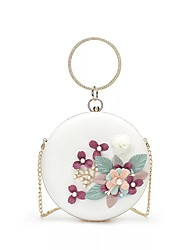 cheap -Women's Girls' Bags Alloy Evening Bag Lace Sequin Floral Print Party / Evening Date Evening Bag White
