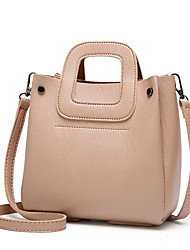 cheap -Women's Bags PU Leather Crossbody Bag Top Handle Bag Plain Daily Date Retro Handbags Almond Green Black Brown