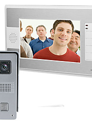 cheap -MOUNTAINONE 1204*600 Interphone Wired Camera / Built in out Speaker 7 inch 1 Pixel One to One video doorphone