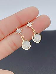 cheap -Women's Earrings Chandelier Star Korean Sweet S925 Sterling Silver Earrings Jewelry Light Gold For Party Gift Daily Festival 1 Pair