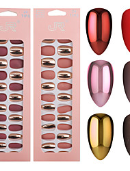 cheap -24pcs/Set Detachable Nails European Rainbow Ballerina Full Nail Art Tips Colorful Beauty Artificial False Nails