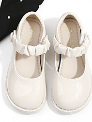cheap -Girls' Flats Mary Jane Flower Girl Shoes Princess Shoes School Shoes Rubber PU Non-slipping Cosplay Big Kids(7years +) Little Kids(4-7ys) Daily Walking Shoes White Black Fall Spring