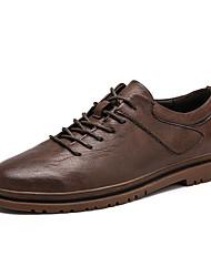 cheap -Men's Sneakers Casual Classic British Daily Outdoor Walking Shoes PU Black Brown Fall Winter