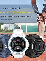 cheap -HT6 Smartwatch Fitness Running Watch Bluetooth Sleep Tracker Heart Rate Monitor Sedentary Reminder Message Reminder Call Reminder Step Tracker IP68 52mm Watch Case for Android iOS Men Women