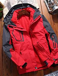 cheap -Women's Hiking 3-in-1 Jackets Ski Jacket Hiking Fleece Jacket Winter Outdoor Solid Color Thermal Warm Waterproof Windproof Detachable Fleece Hoodie Windbreaker Trench Coat Single Slider Fishing