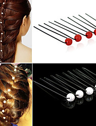 cheap -20pcs Women U-shaped Pin Metal Barrette Clip Hairpins Simulated Pearl Bridal Tiara Hair Accessories Wedding Hairstyle Design Tools