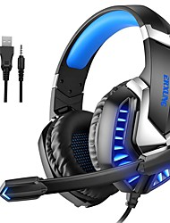 cheap -J30 Gaming Headset USB 3.5mm Audio Jack PS4 PS5 XBOX Ergonomic Design Stereo with Microphone for Apple Samsung Huawei Xiaomi MI  Everyday Use PC Computer Gaming