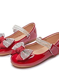 cheap -Girls' Flats Flower Girl Shoes Princess Shoes School Shoes Rubber PU Non-slipping Dress Shoes Big Kids(7years +) Little Kids(4-7ys) Daily Party & Evening Walking Shoes Crystal / Rhinestone Almond Red