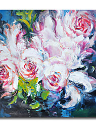 cheap -Oil Painting Hand Painted Mondern Abstract Rich Peony Flower Wall Art Home Room Decoration Rolled Canvas No Frame Unstretched