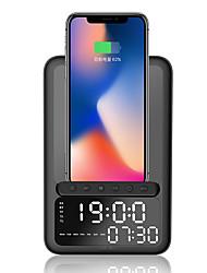 cheap -BT-512 Wireless Charger Alarm Clock Bluetooth Speaker Fm Radio LED Smart Digital Table Electronic Desktop Clocks Fast Chargers