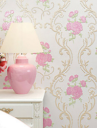 cheap -Wallpaper Wall Covering Sticker Film Country style Flower Non Woven Home Decor 53*1000cm