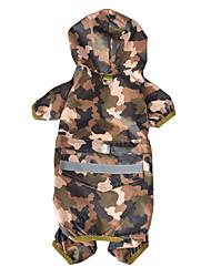 cheap -supply pet dog raincoat camouflage outdoor windproof and rainproof golden retriever large dog pet four-legged raincoat dog clothes