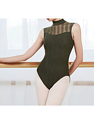 cheap -Ballet Dance Costumes Activewear Leotard / Onesie Lace Glitter Hollow-out Women's Training Performance Sleeveless POLY Cotton Blend Lace