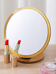 cheap -90 Degree Rotating Make-up Mirror Top Table Style Wooden Women's Household Single Side Dresser Student