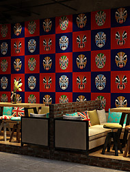 cheap -Wallpaper Wall Covering Sticker Film Classical Chinese Facial Makeup Vinyl PVC Home Decor 53*1000cm