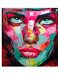 cheap -Oil Painting Handmade Hand Painted Wall Art Modern Francoise Nielly Knife Abstract Portrait Face Figure Posters Home Decoration Decor Rolled Canvas No Frame Unstretched