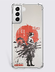 cheap -One Piece Cartoon Characters Phone Case For Samsung S21 S21 Plus S21 Ultra Unique Design Protective Case Shockproof Dustproof Back Cover TPU